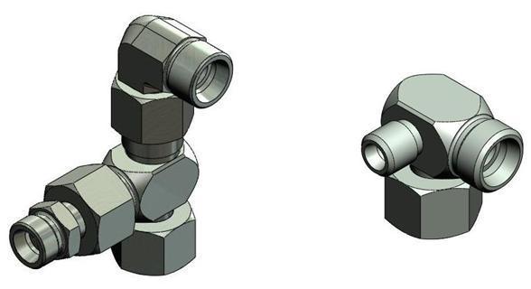 Empilage raccord hydraulique - raccord RH