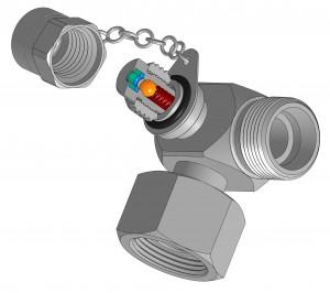 Raccord hydraulique avec prise de pression